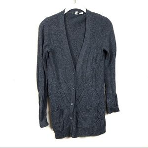 Anthropologie Sweaters - Anthropologie moth gray pointelle cardigan sweater